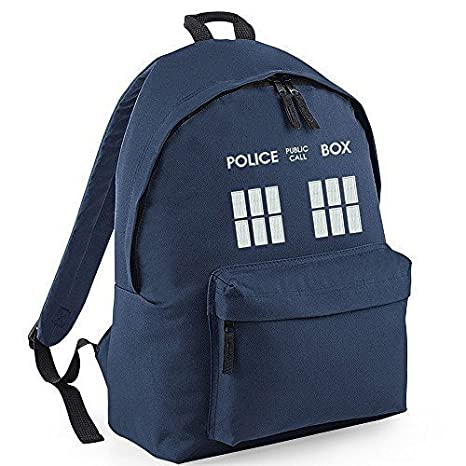 Police Public Call Box TARDIS Doctor Who Rucksack - Backpack. Highly rated by customers.