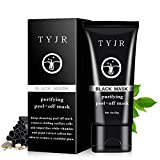 TYJR Blackhead Remover Black Mask Cleaner Purifying Deep Cleansing Blackhead Black Mud Face Mask Peel-off 50ml