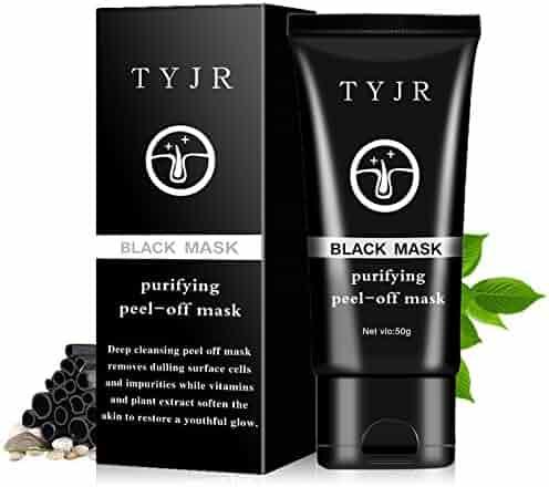 TYJR Blackhead Remover Black Mask Cleaner Purifying Deep Cleansing Blackhead Black Mud Face Mask Peel-off 50ml