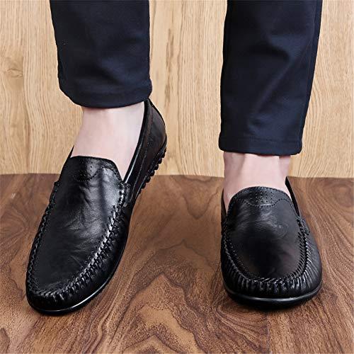 one Leggero Passeggio amp; fei Slip 45 Scarpa black Comodi Primavera Moda Mocassini Autunno Guida Uomo Da Gpf Morbido vZnq477