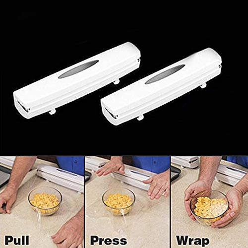 (KIICN Foil Wrap Plastic Wrap Dispenser with Cutter Holders Cutter Cling Wrap Food Cling Wrap Cutter Tool)