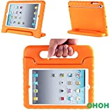 OHOH iPad Mini Case for kids [Kid Proof] [Drop Resistance]Light Weight Super Protection Carrying Handle and Convertable Stand Cover for iPad mini 1/2/3(Orange)