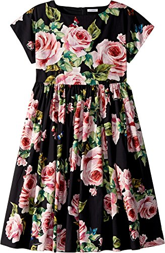 Dolce & Gabbana Kids Girl's Sleeveless Dress (Big Kids) Black Print 10 by Dolce & Gabbana