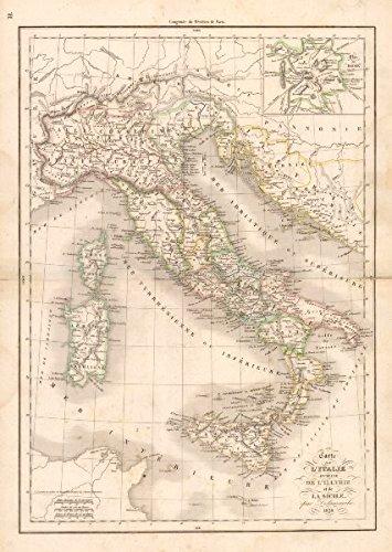 Carte Italie Ancienne.Amazon Com Carte De L Italie Ancienne De L Illyrie Et De