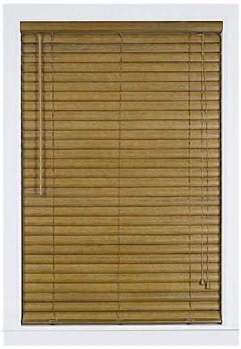Achim Home Furnishings Luna 2-Inch Vinyl Blind, 29-Inch by 64-Inch, - Wooden Shades
