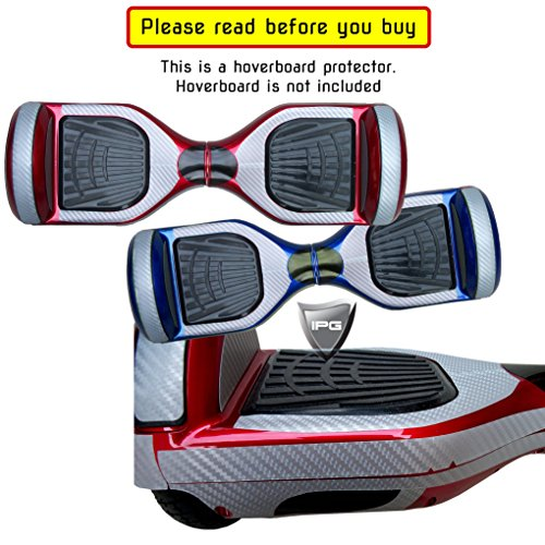 Gray Carbon Fiber Vinyl Smart Balancing Mini Electric Scooter BODY Decorative Protection Hoverboard Skin Cover Case By IPG (Ipg Case)