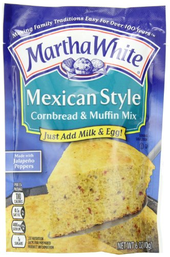 Martha White Mexican Style Cornbread and Muffin Mix, 6-Ounce Packages (Pack of 12) (Mexican Cornbread Mix compare prices)