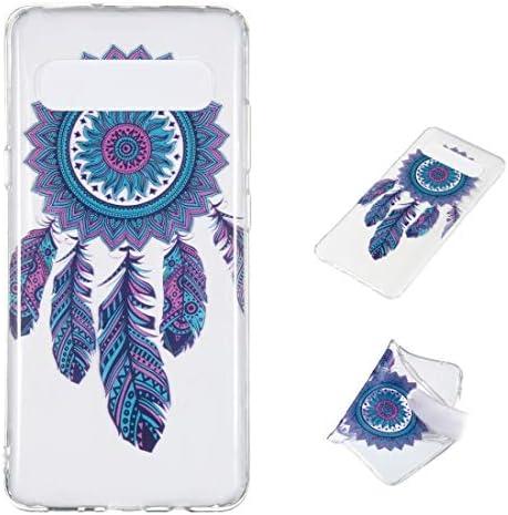 あなたの携帯電話を保護する Galaxy S10 5G用のBlue Wind Chime柄の非常に透明なTPU保護ケース