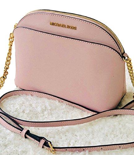 MICHAEL Michael Kors Emmy Medium Crossbody Leather Handbag (Blossom) ()
