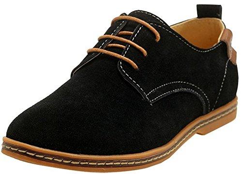 Tentoes Heren Klassieke Lederen Oxford Schoenen Zwart