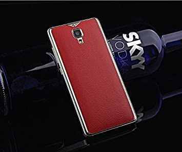 Excelsior Premium Leather Back Replacement Cover for Xiaomi Mi 4   Red Cases   Covers