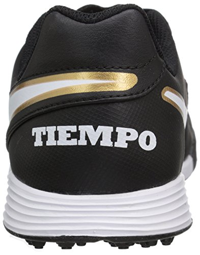 Nike Metallic Jr Tiempo Black White Kids Soccer Turf Tf Gold Shoe Legend VI FAFSqw