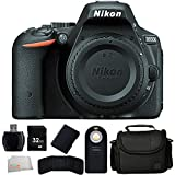 Nikon D5500 DX-format Digital SLR Body (Black) + Extended Life Replacement Battery + 32GB Memory Card + Reader + Carrying Case + Wireless Remote + Memory Card Wallet + Microfiber Cleaning Cloth - International Version (No Warranty)