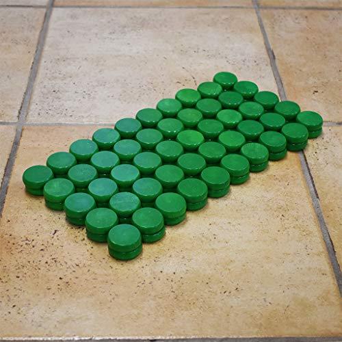 100 Green Tournament Size Crokinole Discs