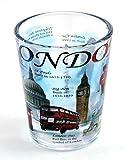 London England Blue Landmarks Collage Shot Glass