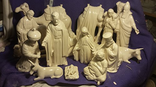 Clear Glaze Finished Duncan Nativity set 7'' to 9'' by Creative Kreations Ceramics
