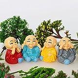 Miniature Garden Decor - 4 Pieces Buddhist monk - Best Reviews Guide