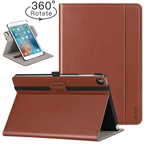 (Ztotop iPad Mini 4 Swivel Case, [360 Rotating] Genuine Leather Folio Stand Case Cover with Multi-Angle Viewing, Pocket, Auto Wake/Sleep for iPad Mini 4 -)