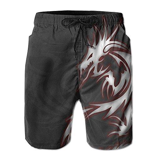 Bdna Cool Dragon Tribal Men's Beach Shorts Swim Trunks Casual Sport Print Short Pants Jogging Pants on sale