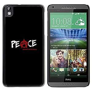 Be Good Phone Accessory // Dura Cáscara cubierta Protectora Caso Carcasa Funda de Protección para HTC DESIRE 816 // Anarchy Rebel Black Text