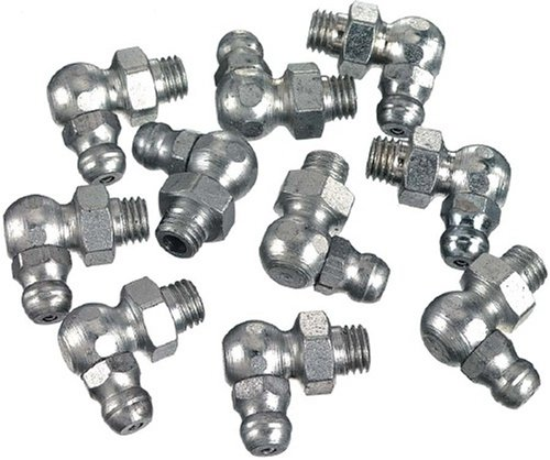 "Lincoln Lubrication 5490 1/8"" Pipe Thread 90 Degree Angle Fitting, (Card of 10)"