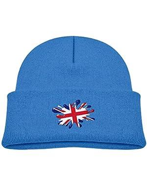 Warm British Pigment Flag Printed Newborn Baby Winter Hat Beanie