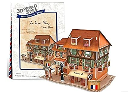 Buy do it yourself 3d puzzle fashion shop france flavor house do it yourself 3d puzzle fashion shop france flavor house diy for kids solutioingenieria Gallery