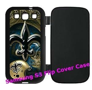 NFL New Orleans Saints logo flip plastic For SamSung Galaxy S6 Case Cover I