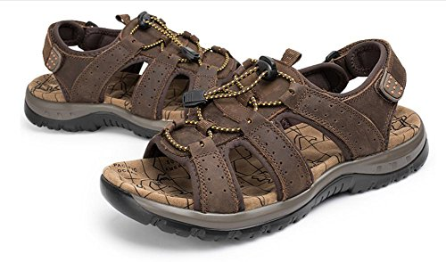 men's Baotou 3 sandals shoes summer leather large slippers size 2017 breathable beach ZTtqI