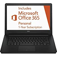 Dell Inspiron 14.1 inch HD Laptop includes 1-year Office 365, Intel Dual-Core Celeron Processor 2.16 GHz, 2GB RAM, 32GB Flash Storage, WiFi-B, Bluetooth, Webcam, HDMI, Windows 10 Home