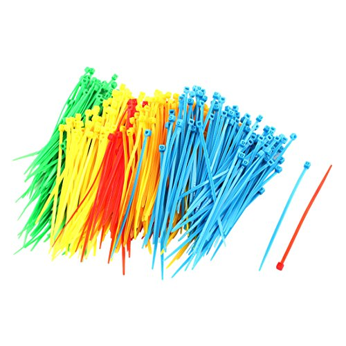 uxcell Plastic Household Accessories Self Locking Cable Zip Tie 3 x 100mm 500pcs Assorted Color