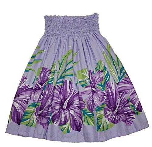 (Hawaiian Pa'u Hula Skirt Hawaii Print for Womens (Green) (Lavender))