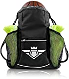 Sports Equipment Backpack Best Deals - Legendary Drawstring Gym Bag - XL Capacity | Fits All Sports Gear | Waterproof Heavy-Duty Sackpack/Backpack (Black )