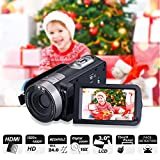 "Digital Camcorder, Mengyasi Portable Video Camcorder with IR Night Vision HD 1080P 24MP 16X Digital Zoom Remote Control Handheld Camcorder with 3"" LCD Screen (2 Batteries Included)"