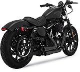 Vance & Hines 09-19 Harley XL883N Mini-Grenades 2-into-2 Exhaust (Black)