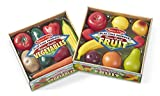 toy fruits and vegetables - Melissa & Doug Play-Time Produce Fruit (9 pcs) and Vegetables (7 pcs) Realistic Play Food
