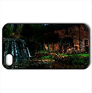 Watermill by Lee Bevan - Case Cover for iPhone 4 and 4s (Watercolor style, Black) by supermalls