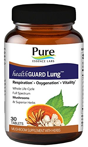 Respiration Lab (Pure Essence Labs HealthGuard Lung - Respiration - Oxygenation - Vitality - 30 Tablets)