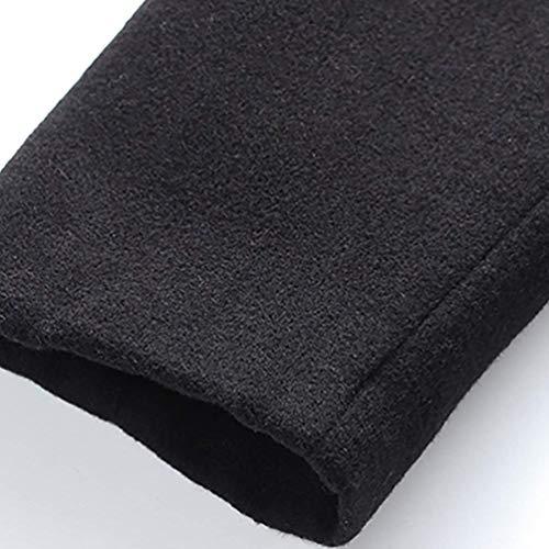 Jacket Long Coat Jackets Winter Apparel Collar Lapel Huixin Sleeve Coat Men's Color Schwarz Winter Slim Outerwear Warm Fit Jacket Solid Ixww0a