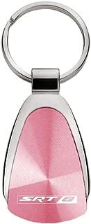 product image for Dodge Genuine SRT8 Pink Logo Metal Chrome Tear Drop Key Chain Ring Fob