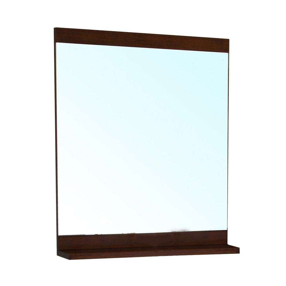 Bellaterra Home 203131-MIRROR-W Solid Wood Frame Mirror, Walnut