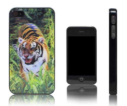 Xcessor Tiger Tigre 3D Holographic Dur Dos Étui Coque Housse De Protection Pour Apple iPhone 4 et 4S