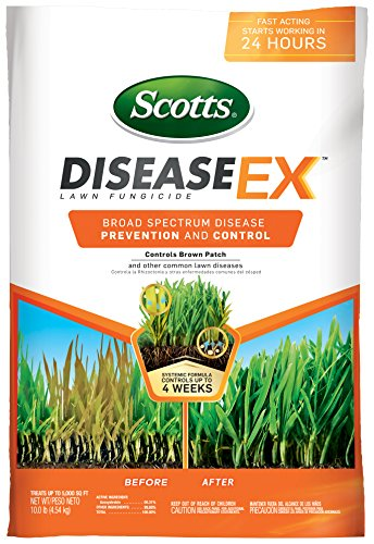 Scotts DiseaseEx Lawn Fungicide, 10 LB - Lawn Disease Prevention and Control for Brown Patch, Yellow Patch, Stem and Stripe Rust, Red Thread, and More As - Mushroom Outdoor Patch