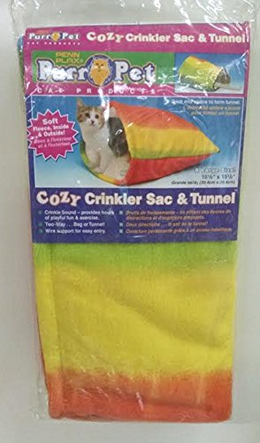 Penn Plax Cozy Crinkler Sac and Tunnel
