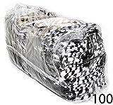 Pouches for Glasses Cleaning Case Bag Black 1, 6, 12, 24,100, 2000 PCS (Zebra-100)