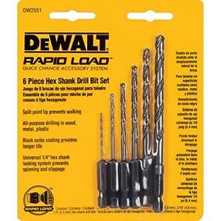 DEWALT DW2551 1/16-Inch to 1/4-Inch Hex Shank Twist Drill Assortment, 6-Piece (B0000225OI) | Amazon price tracker / tracking, Amazon price history charts, Amazon price watches, Amazon price drop alerts