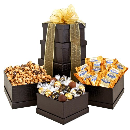 California Delicious Ebony Gift Tower of Goodies
