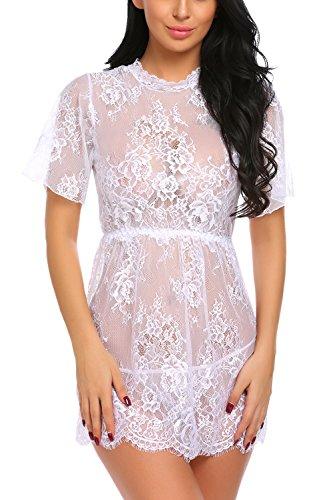 Lace Baby Doll Mini Dress - 5