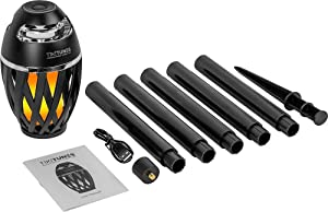 """Limitless Innovations - TikiTunes Portable Bluetooth Wireless Speaker (Bundle) with Adjustable 40"""" Pole and Ground Stake - Black"""