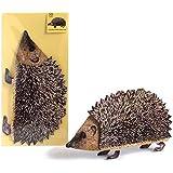 "POP-UP CARD ""HEDGEHOG"": A folded 3-D-card of a lifelike hedgehog - sweet and dinky! Best for animal lovers."